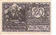 20 Heller (St. Martin im Mühlkreis) – obverse