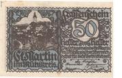 50 Heller (St. Martin im Mühlkreis) – obverse
