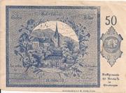 50 Heller (St. Nikola an der Donau) – obverse
