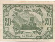 20 Heller (St. Nikola an der Donau) – reverse