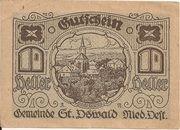 10 Heller (St. Oswald) – obverse