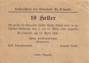 10 Heller (St. Oswald) – reverse
