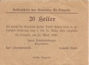 20 Heller (St. Oswald) -  reverse