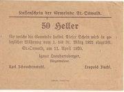50 Heller (St. Oswald) – reverse