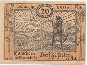 20 Heller (St. Peter in der Au) – obverse
