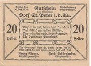 20 Heller (St. Peter in der Au) – reverse