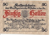 50 Heller (St. Peter in der Au) – obverse