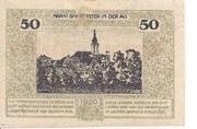 50 Heller (St. Peter in der Au) – reverse