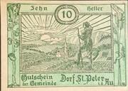 10 Heller (St. Peter in der Au) – obverse