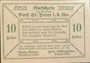 10 Heller (St. Peter in der Au) – reverse