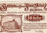 50 Heller (St. Pölten; Firma Franz Pittner) -  obverse