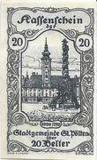 20 Heller (St. Pölten) – obverse
