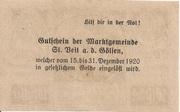 20 Heller (St. Veit an der Gölsen) -  reverse