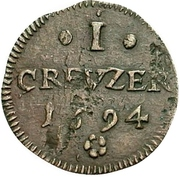 1 Kreuzer - Romanus – reverse
