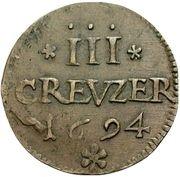 3 Kreuzer - Romanus – reverse