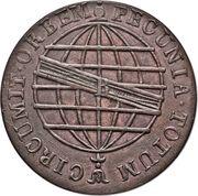 80 Reis - João Prince Regent (Rio de Janeiro mint) – reverse