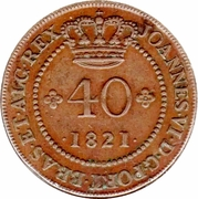 40 Reis - João VI (Bahia mint) – obverse