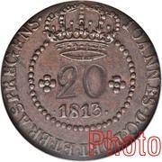 20 Réis - João Prince Regent (Rio de Janeiro mint) – obverse