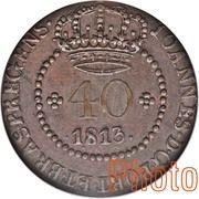 40 Réis - João Prince Regent (Rio de Janeiro mint) – obverse