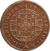 "40 Réis - Pedro V  (Countermarked with ""Small Crown"") – reverse"