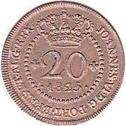 20 Réis - João VI (Lisboa mint) – obverse