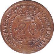 20 Réis - João VI (Bahia mint) – obverse