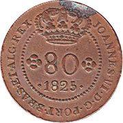 80 Reis - João VI (Lisboa mint) – obverse