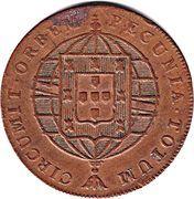 80 Reis - João VI (Lisboa mint) – reverse