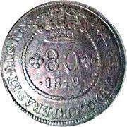 80 Reis - João VI (Bahia mint) – obverse