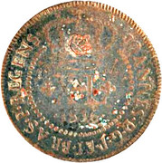 "XL Réis - Pedro V (""Small Crown"" countermark ) – obverse"