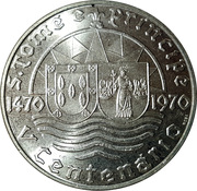 50 Escudos (Anniversary of Discovery) – obverse