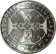 50 Escudos (Anniversary of Discovery) -  reverse