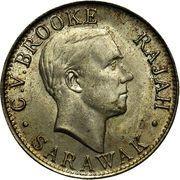 20 Cents - Charles V. Brooke Rajah – obverse