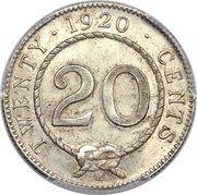 20 Cents - Charles V. Brooke Rajah – reverse