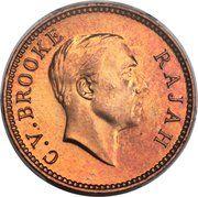 ½ Cent - Charles V. Brooke Rajah – obverse