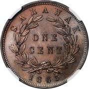 1 Cent - James Brooke Rajah – reverse