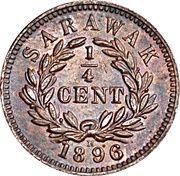 ¼ Cent - Charles J. Brooke Rajah – reverse