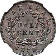 ½ Cent - Charles Brooke Rajah – reverse