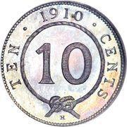 10 Cents - Charles Brooke Rajah – reverse