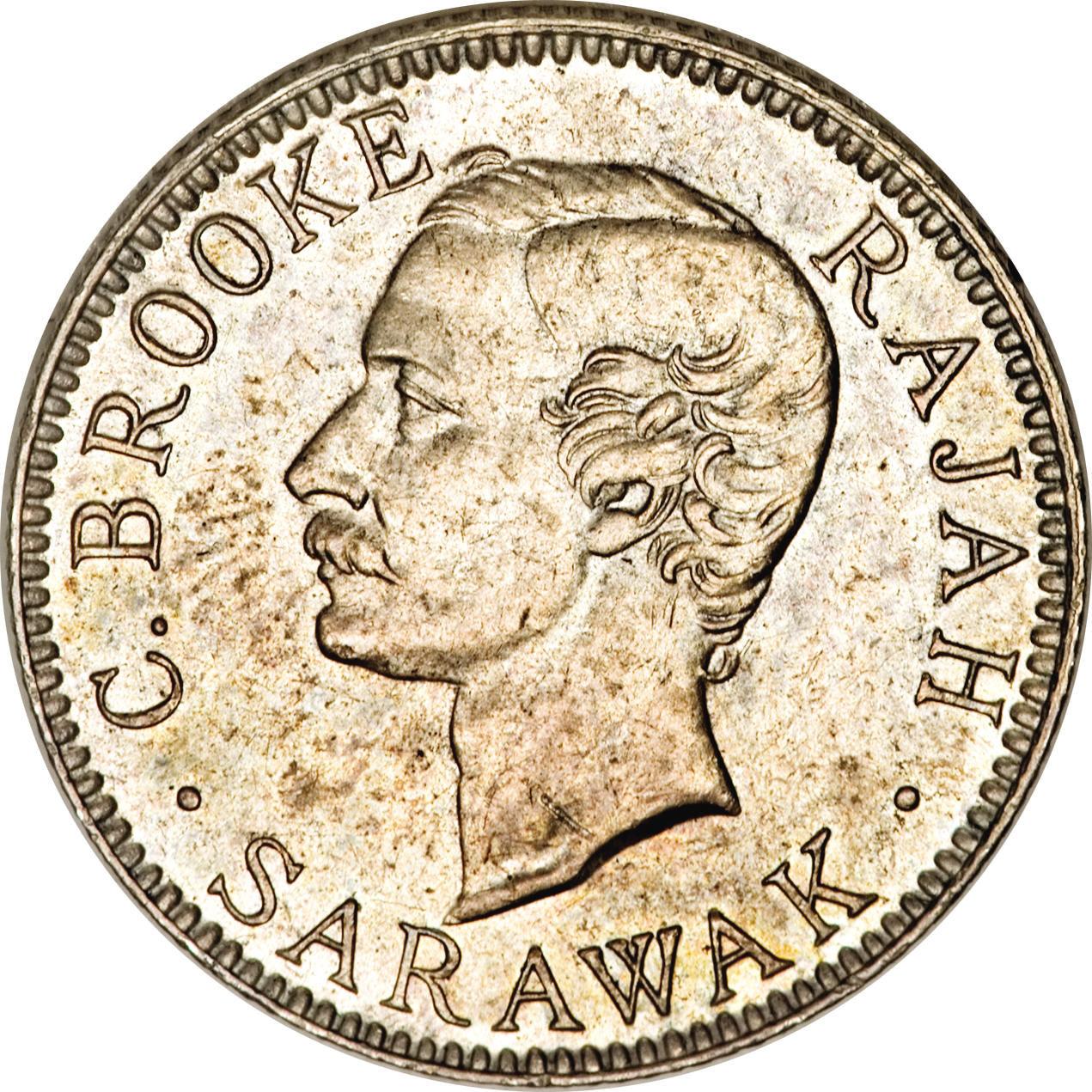 20 Cents - Charles Brooke Rajah - Sarawak - Numista