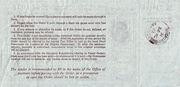 6 Pence - Postal Order - Colony of Sarawak ( 1946 - 63) – reverse