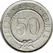 50 Cents - Charles V. Brooke Rajah – reverse