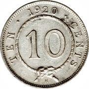 10 Cents - Charles V. Brooke Rajah – reverse