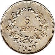 5 Cents - Charles V. Brooke Rajah – reverse