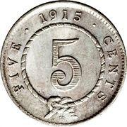 5 Cents - Charles Brooke Rajah – reverse
