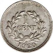 1 Cent - Charles V. Brooke Rajah – reverse