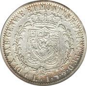 1 Lira - Carlo Felice – reverse