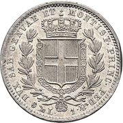 1 Lira - Carlo Alberto – reverse