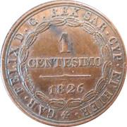 1 Centesimo - Carlo Felice – reverse