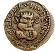 3 Cagliarese - Carlo II – obverse